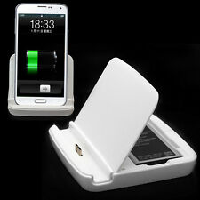 Dual USB Sync Battery Phone Charger Dock Cradle For Samsung Galaxy S V S5 i9600