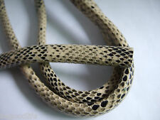 20cm/1 Yard Snake Skin(Beige) Licorice Leather Cord 10x5.5mm