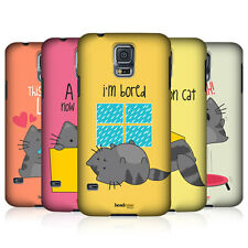 HEAD CASE DESIGNS WILBUR THE CAT HARD BACK CASE COVER FOR SAMSUNG GALAXY S5