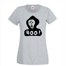 Boo ghost! Scary Womens funny t-shirt, fancy dress, halloween gifts size S-3XL
