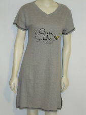 Rampage Night Dress Sleep Shirt QUEEN BEE Gray Small & Med Embroidered Nightgown