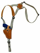 "NEW Barsony Saddle Tan Leather Vertical Gun Shoulder Holster Ruger 2"" Snub Nose"