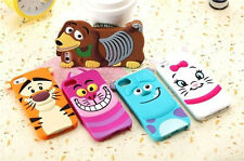 3D Cute Cartoon Lovely Cute Disney Silicone Soft Case Cover For iPhone 4/4S 5/5S