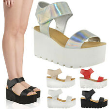 Womens Platform Sandals Ladies Chunky Sole Platform Summer Wedges Shoes Size