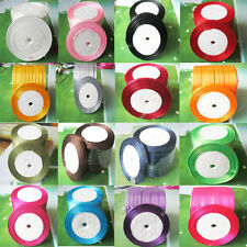 6-10mm satin ribbons Wedding occasions decoration 1pcs(25yard)16 color choices