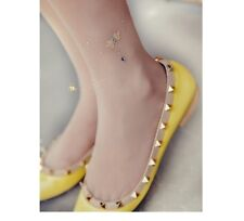 New 2014 Women Flats Pointed Toe Rockstud Shoes Pretty Rivets Party Flat Shoes