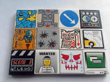 LEGO TILES PRINTED  DECORATED (SIZE 2X2)