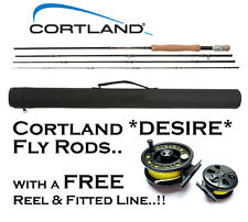 NEW Cortland DESIRE Travel Fly Fishing Rod with FREE REEL & LINE Ready to Fish!