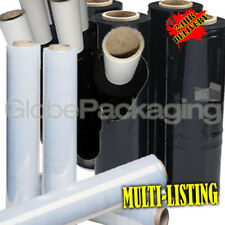 BLACK & CLEAR PALLET STRETCH SHRINK WRAP FILM STD & EXT CORE *ALL TYPES / SIZES*