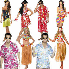 Ladies Hawaiian Fancy Dress Costume Mens Hula Summer Beach Party Outfit Luau