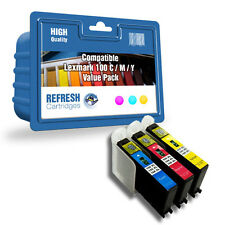 COMPATIBLE LEXMARK 100XL (C / M / Y) PRINTER INK - 3 COLOUR CARTRIDGE VALUE PACK