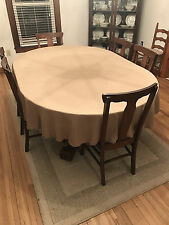 """72"""" round burlap tablecloth in FAUX JUTE BURLAP IN 2 color choice"""