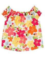 NWT Gymboree ALOHA SUNSHINE Bright Floral Print Woven Shirt Top