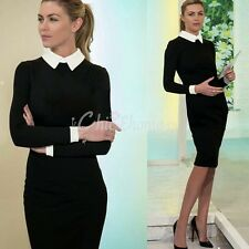 New Womens Elegant Work Business Formal Tunic Cocktail Stretch Pencil Dress