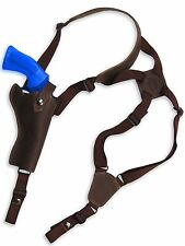 "NEW Barsony Brown Leather Vertical Gun Shoulder Holster for Colt 4"" Revolvers"
