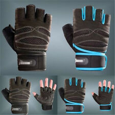 Gel Padded Weight Lifting Body Building Gloves Gym Mitts Strap Fitness Training