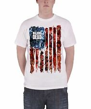 Official The Walking Dead American Gore Zombies T Shirt White New Mens TV Show