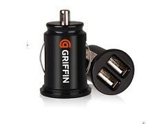 Car Charger Adapter Bullet Dual Mini USB 2-Port for Samsung Apple iPhone 4 S 5G