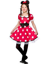 Child Cute Mouse Outfit Fancy Dress Costume Book Week Minnie Kids Girls