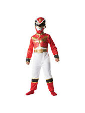 Power Rangers Red Ranger Outfit Fancy Dress Costume Superhero Megaforce Boys