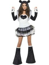 Adult Panda Fancy Dress Costume Sexy Animal Ladies Womens Female Bear BN