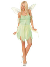 Adult Neverland Pixie Fairy Outfit Tinkerbell Fancy Dress Costume UK Sizes 6-24