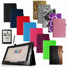 Barnes & Noble Nook HD+ 9 inch Tablet PU Leather Case Cover Protector Stylus