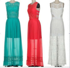 Goddess Lace Maxi Crochet Dress Sheer flowy long teal red white cut out bandage