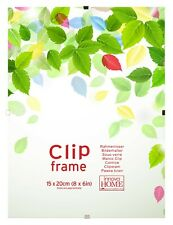Frameless Frames Clip Frames Choice of 19 Sizes - Glass-10 Sizes Plastic-9 Sizes