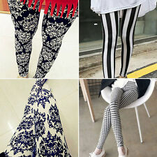 Casual Lady Girl Women Simple Style Leggings Stretchy Tights Pencil Skinny Pants