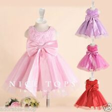 P196 Pinks Wedding Party Flower Girls Dresses AGE SIZE 2 3 4 5 6 7 8 9 10 11 12Y