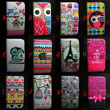 Owl Design Wallet Leather Skin Flip + TPU Case Cover For Samsung Galaxy S5 i9600
