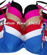 1 Bra OR Lot of 6 Bras,PLAIN PUSH-UP 40C38C36C34C38B36B34B32B36A34A30A BR4062PU