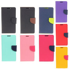 Deluxe Wallet Leather Skin Flip Folio + Tpu Case Cover For Sony Xperia M2 S50h