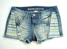 New MOSSIMO SUPPLY CO Stretch Denim Deconstructed Distressed Cut-Off Jean Shorts