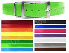 Replacement Collar Strap for Garmin TT10 Alpha Collar Solid Dayglow with Ring