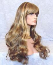 Long Gently Waved Blonde,Brown,Red,Black Full Synthetic Wig Wigs - #48