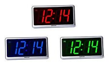 Ivation Big Time Digital LED Clock - Table or Wall Clock - Dimmable LED Display