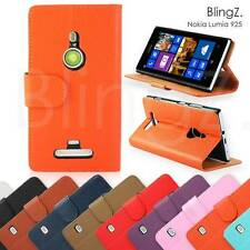 Leather Flip Wallet Book Phone Pouch Case Cover For Nokia Lumia 925