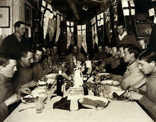 "CANVAS PRINT of rare PONTING photo ""Midwinter Day Dinner, 1911"" captain SCOTT"