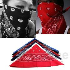 HeadWrap Cotton Hair wrap Double Side Print New 1 pc Scarf Paisley Bandana