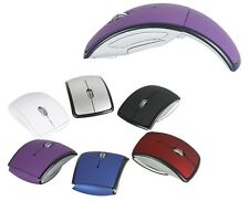 Foldable Wireless Optical Arc Mouse Mice USB 2.0 Receiver F PC Laptop NoteBook J