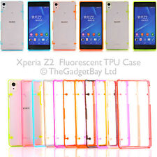 Fluorescent Hybrid Luminous Transparent TPU Gel Case Cover for Sony Xperia Z2