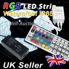 1M 2M 3M 4M 5M 5050 RGB LED Light Strip + IR RF Remote Controller + UK / EU PSU