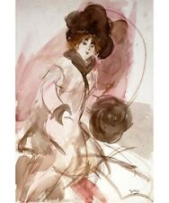 """CAPTIVATING NEW PRINT on CANVAS! """"An Elegant Lady with a Muff"""" GIOVANNI BOLDINI"""
