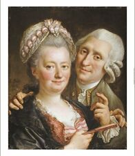 """FRANCOIS GUERIN """"Portrait Of A Gentleman And Wife"""" choose SIZE, from 55cm up"""