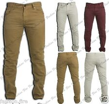 Mens Boys Designers Next Skinny Jeans Slim Fit Coloured Denim Jeans Mens Chinos