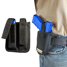 New Barsony Ambi Pancake Holster + Dbl Mag Pouch Browning Colt Full Size 9mm 40