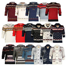 BB MENS ROCK & REVIVAL CHUNKY KNITTED CARDIGAN WINTER LONG SLEEVE JUMPER S-XXL