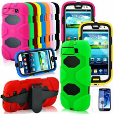 Heavy Duty Shock Proof Tough Case for Samsung Galaxy S3 i9300 with Belt Clip